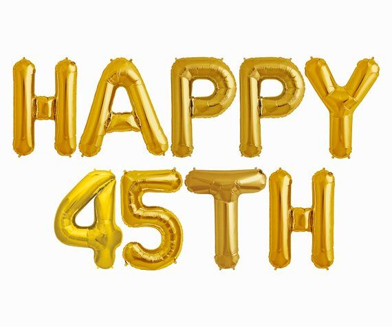 Happy 45th Balloons