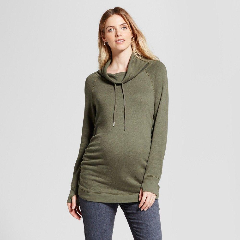 Ingrid /& Isabel Womens Maternity Cowl Neck Sweatshirt