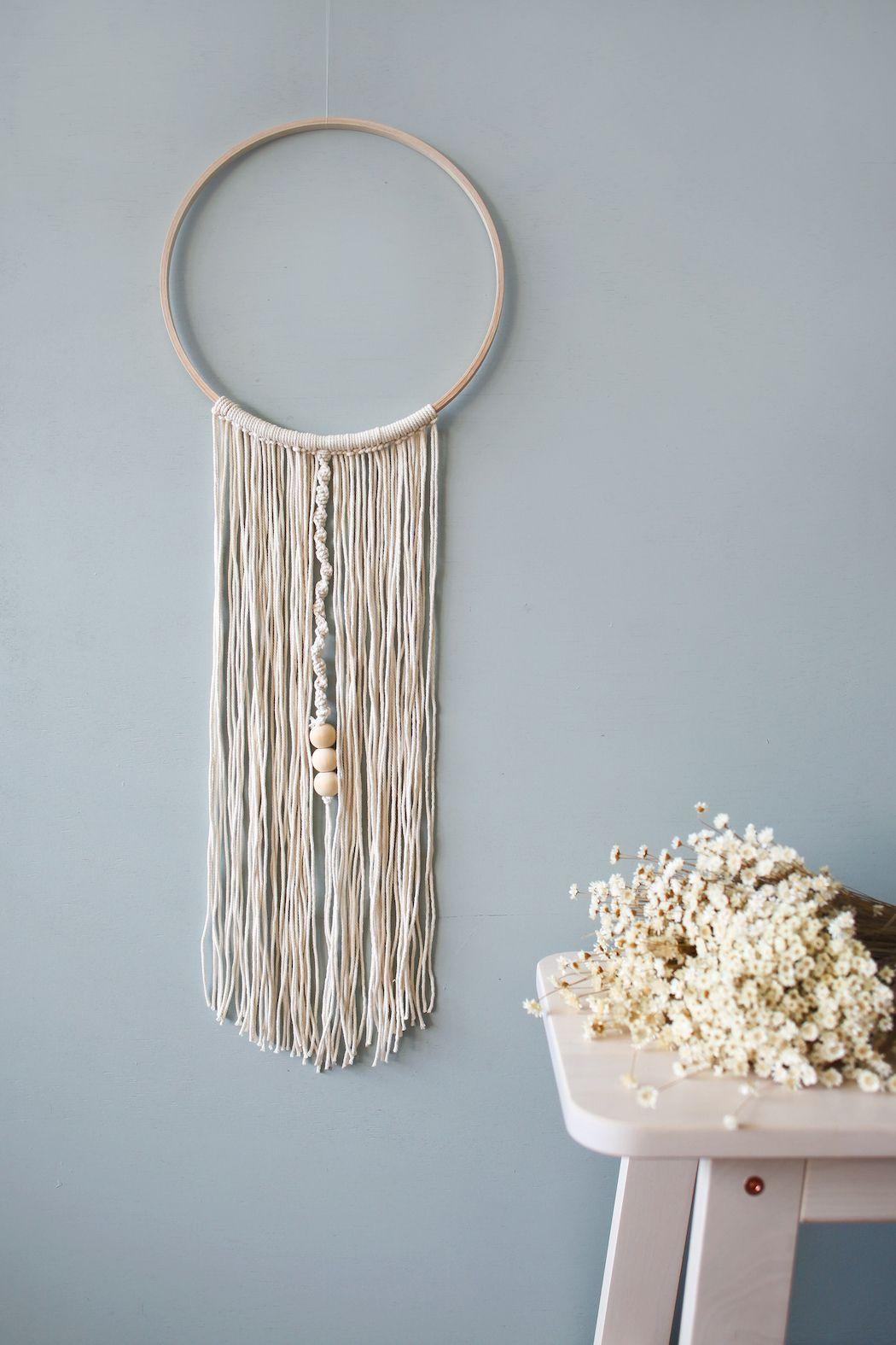 diy yarn wall hanging diy pinterest diy decor and yarn wall hanging. Black Bedroom Furniture Sets. Home Design Ideas
