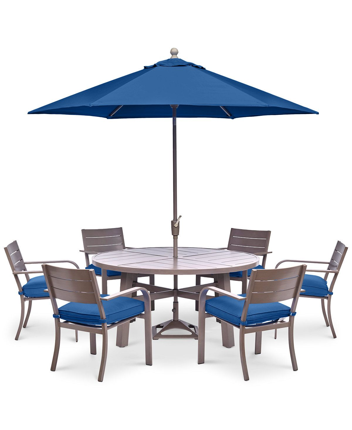 Macys Furniture Outlet Columbus: CLOSEOUT! Ocean Port Outdoor Aluminum 7-Pc. Dining Set (60