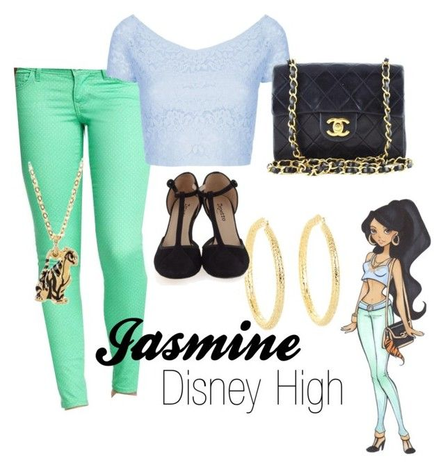 """Jasmine (Disney High)"" by amarie104 ❤ liked on Polyvore featuring Disney, Old Navy, Topshop, Marc by Marc Jacobs, Repetto, women's clothing, women, female, woman and misses"