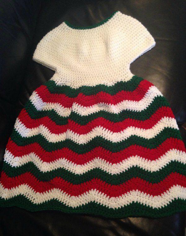 Chevron Chic Baby Dress - Free Crochet Pattern   vestidos bebé ...
