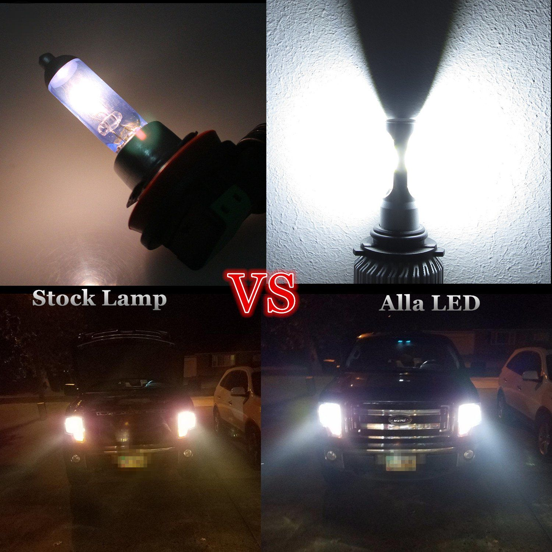Alla Lighting Hb4 9006 Led Headlight Bulbs 8000lm Xtreme Super Bright 6500k Xenon White High Power Mini Led 9006 Headlight Headlight Bulbs Led Headlights Bulb