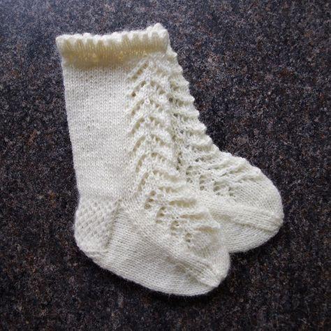 Knitting Pattern For Lacy Knee High Baby Socks Pinterest