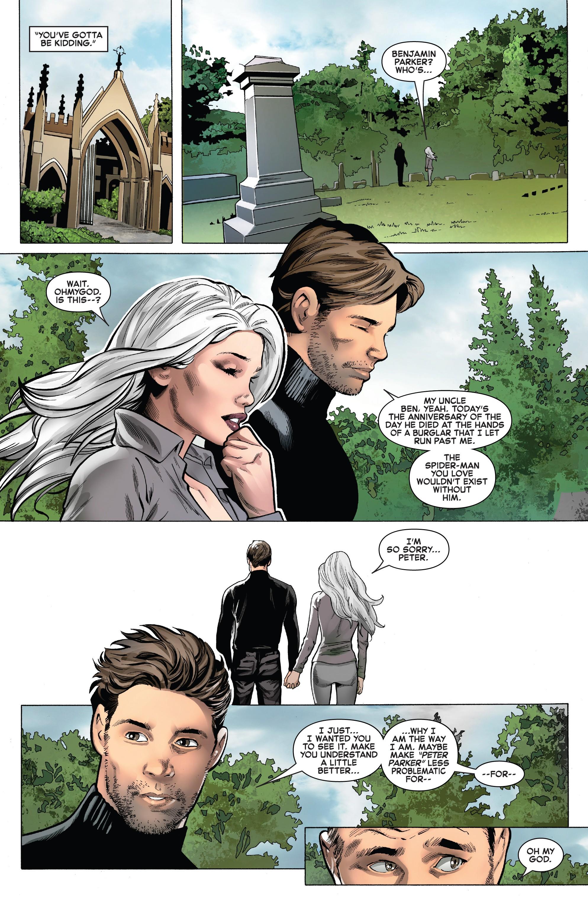 Ben Parker Grave Spider Man Ps4 : parker, grave, spider, Peter, Felicia, Visit, Uncle, Ben's, Grave., Symbiote, Spider-Man, (2019), Spiderman, Black, Marvel,, Comic