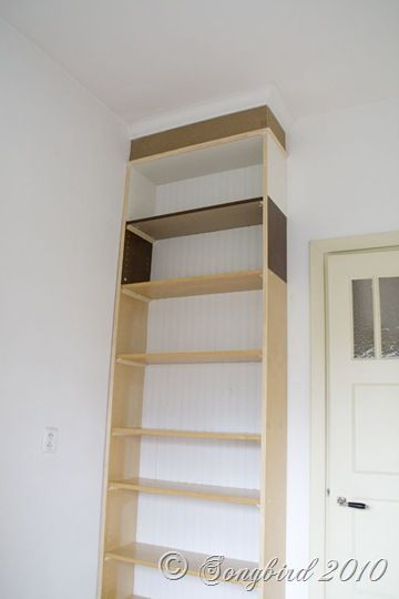 Take A Billy Bookcase From Ikea Add 2 Extensions And Crown Molding On Top Ikea Billy Bookcase Furniture Hacks Ikea Billy