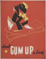 #WednesdayWisdom Don't gum up a book http://www.vintprint.com/collections/wpa/products/wpa20?utm_source=Sendible&utm_medium=WednesdayWisdom&utm_campaign=wpa20