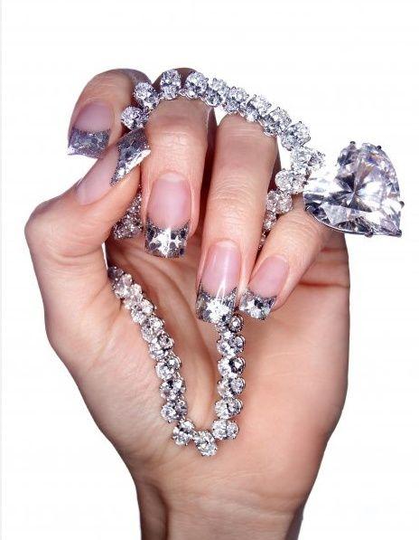 VERY blingy nails