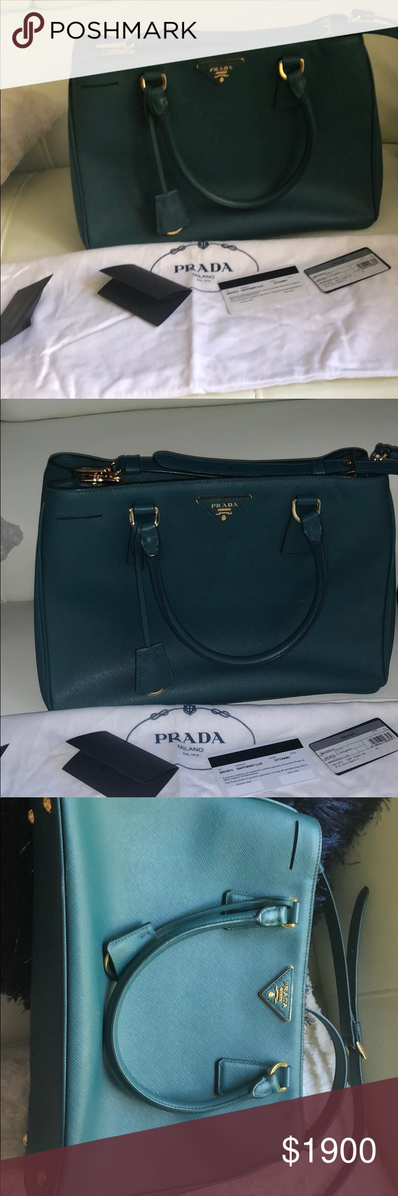 d6546dbb3b4 Authenthic prada saffiano lux bag Used but in great condition Comes with  dust bag Authenticity card Color is a burgundy wine color Bags Shoulder Bags