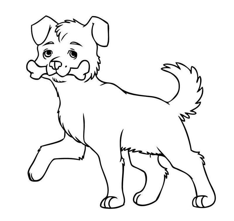 Dibujos de perros para pintar. Dibujos para colorear de perros ...