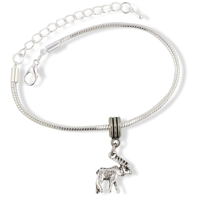 Moose Snake Chain Charm Bracelet