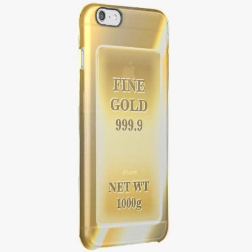 iPhone 6 Plus Cases | Shiny Fine Gold 999.9 Gold Brick Gold Bar Uncommon Clearly™ Deflector iPhone 6 Plus Case
