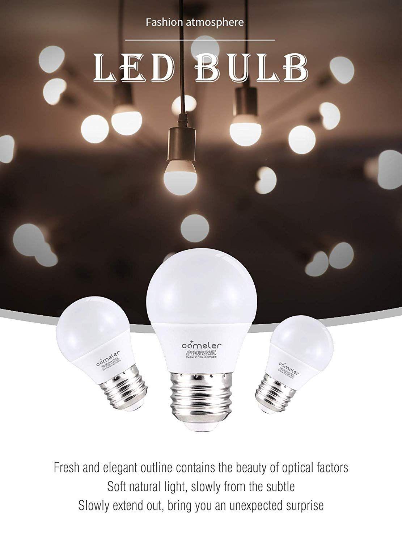 Comzler 6w A15 Led Bulb Daylight 60 Watt Equivalent E26 Medium Screw Base Small Light Bulb Cool White 5000k Continue To The Produc Led Bulb Bulb Light Bulb