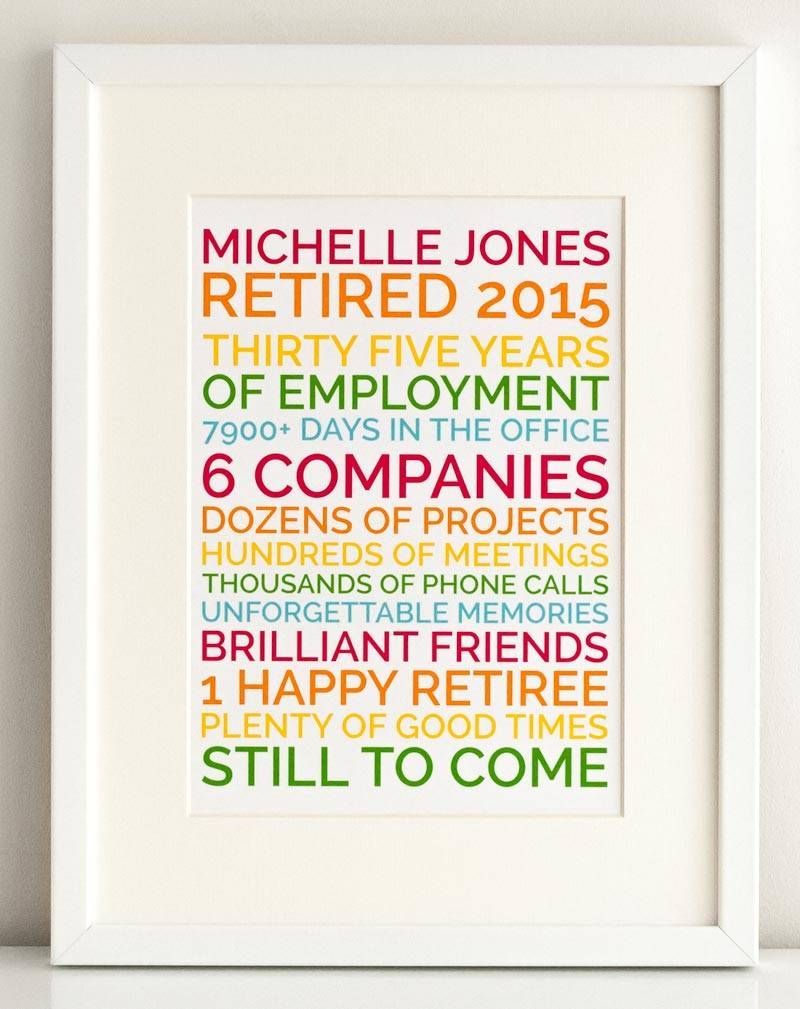 Personalized Poster Retirement Gift | Retirement Party ...