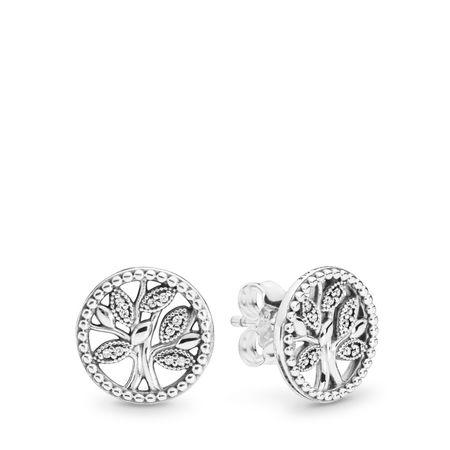 Sparkling Family Tree Stud Earrings Pandora Earrings Pandora Earrings Studs Pandora Jewelry