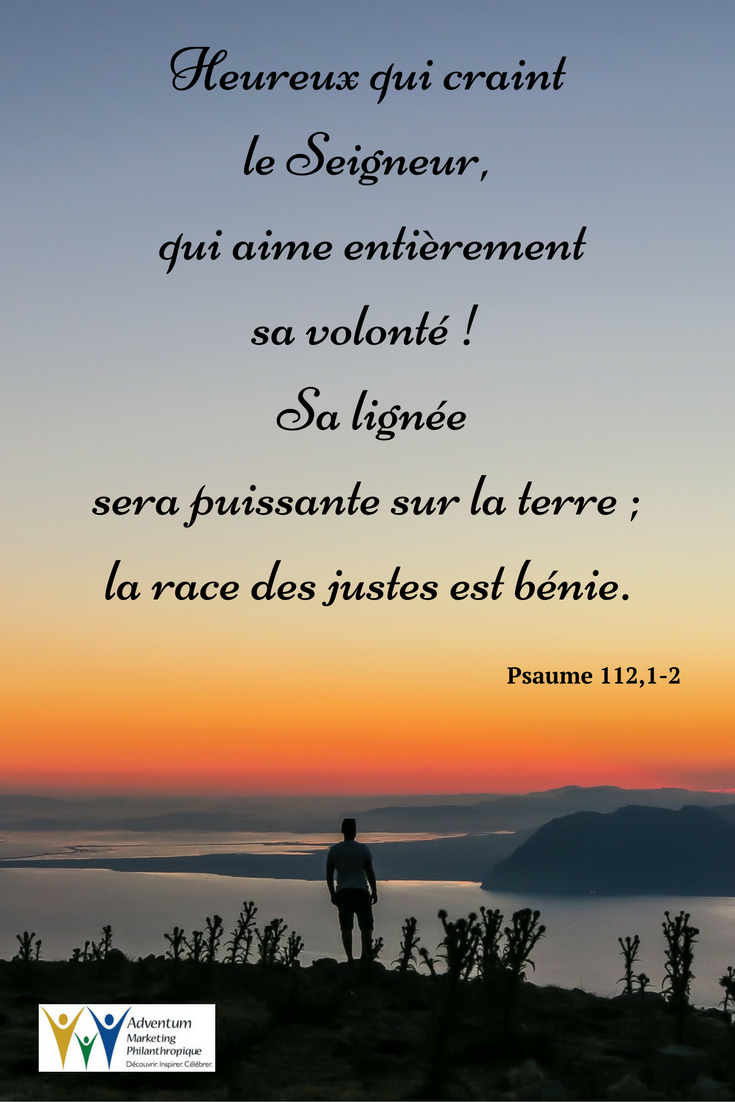 12 novembre 2016 – Psaume 112,1-2