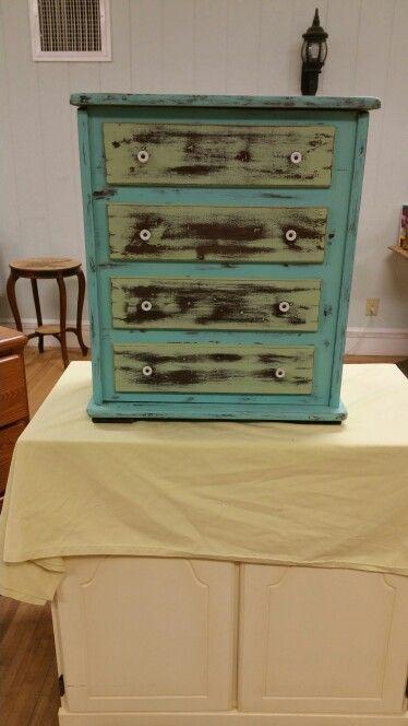 Painted antique Potatoe Box #mycreation