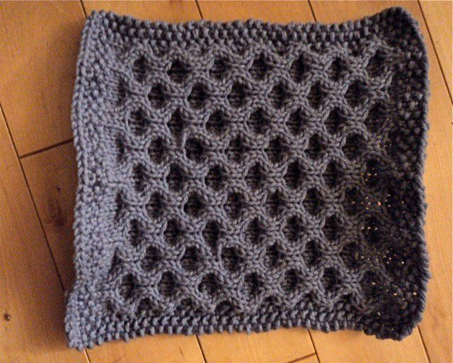 New Stitch Afghan Knit-A-Long April Square