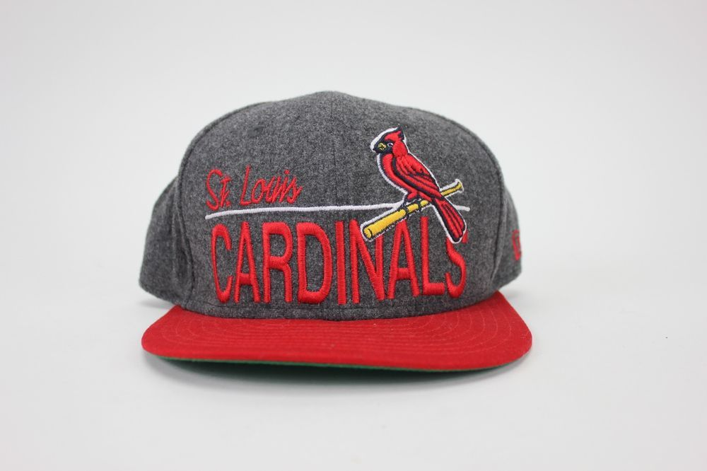 560fa8ce8c9 St. Louis Cardinals New Era 59Fifty Fitted Hat Gray Red MLB Baseball Hat Cap   NewEra  StLouisCardinals
