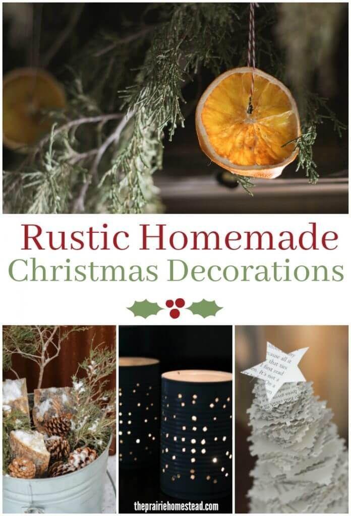 Rustic Homemade Christmas Decorations Homemade christmas