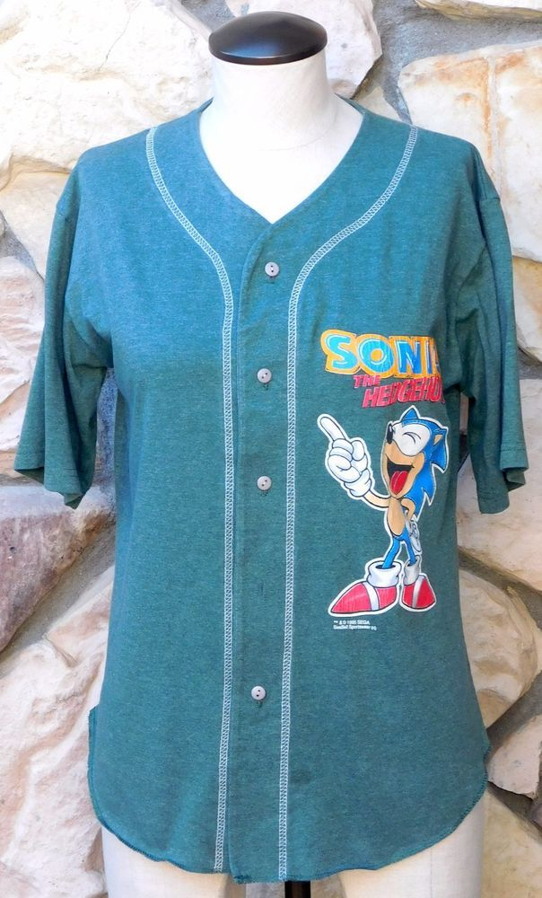 Vtg 1995 Sonic The Hedgehog Baseball Jersey Shirt Kids Large Oasisports Cool Stuff To Buy Jersey Shirt Baseball Jerseys Cool Things To Buy