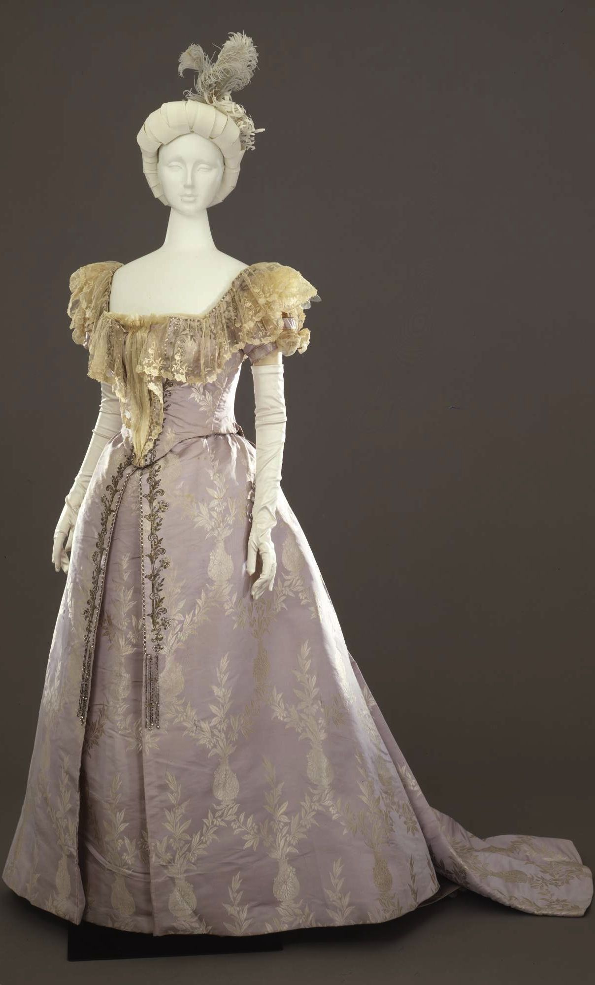 Ball Gown In Two Parts Bodice And Skirt By Atelier Mrs C Donovan New York C 1894 95 At The Womens Vintage Dresses Historical Dresses Victorian Fashion