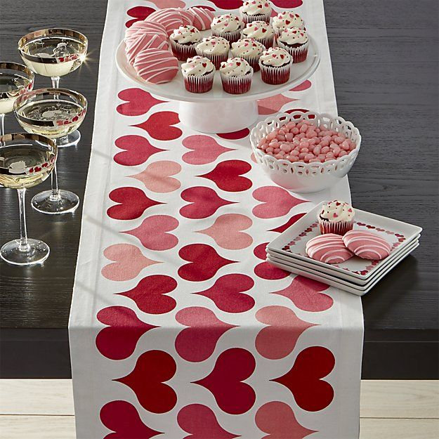 Superb Valentine Hearts Table Runner. | Crate And Barrel