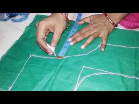 fa5701df43e87 Double katori blouse marking and cutting - YouTube