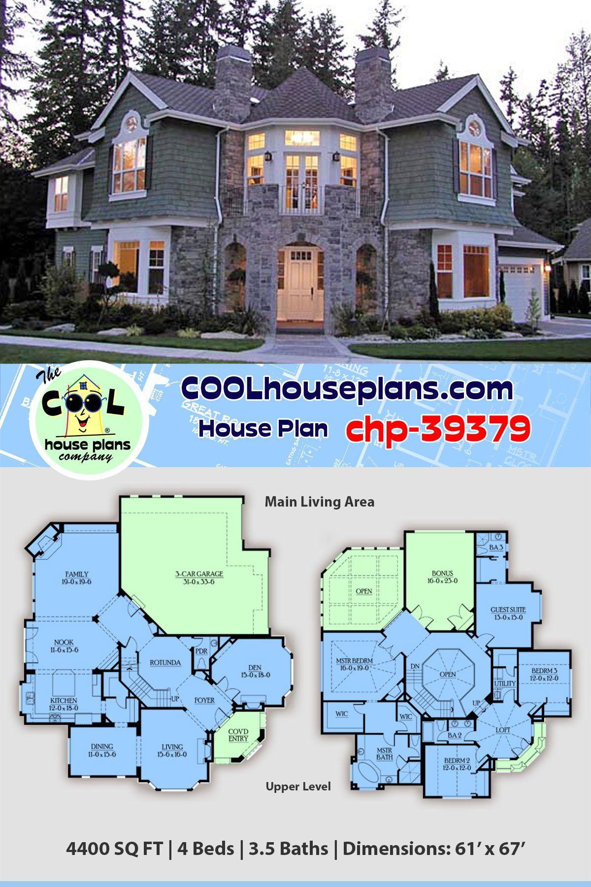 House Plan Chp 39379 Plans De Maison De Luxe Plans De Maison De Famille Maison Sims