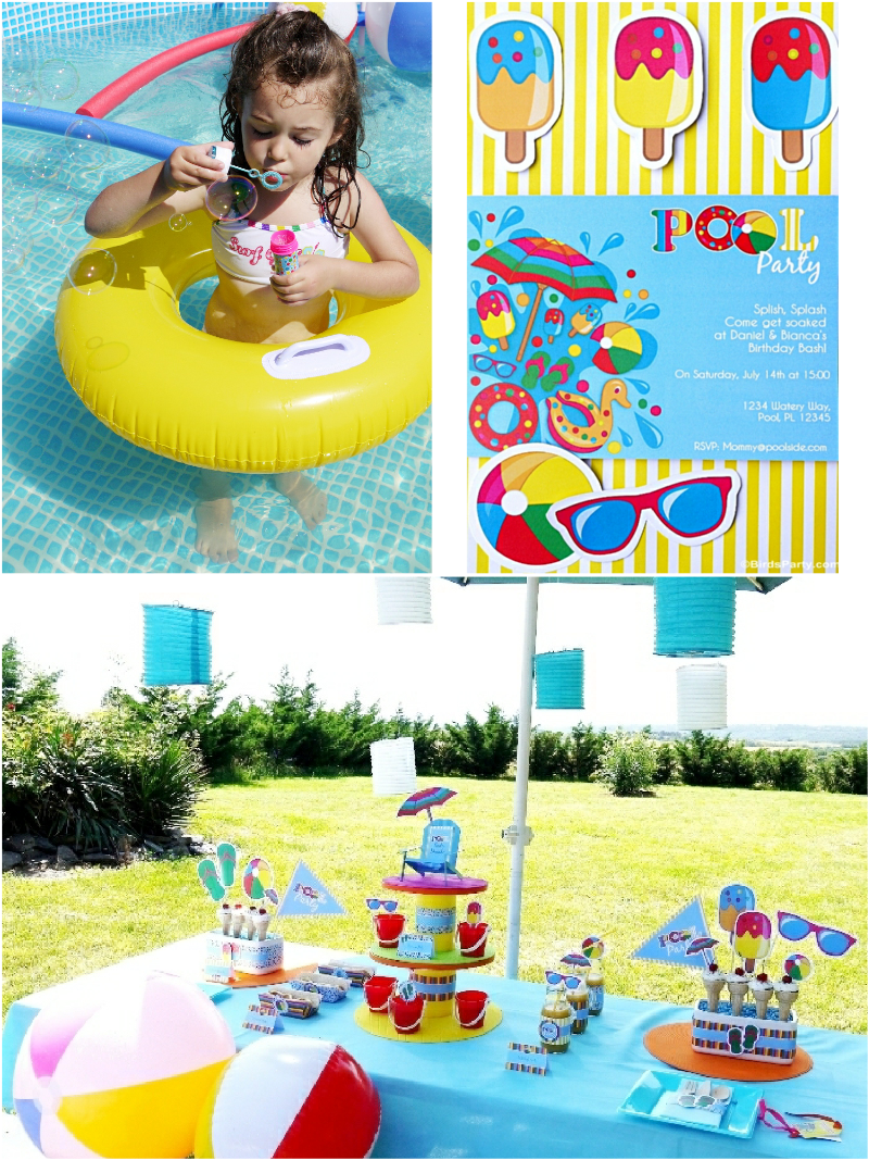 Pool Party Ideas Kids Summer Printables