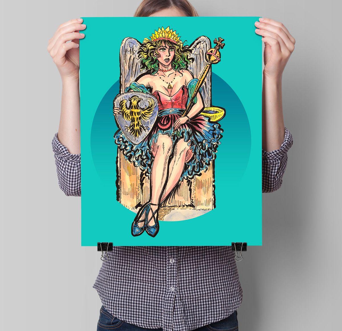 T shirt design evansville indiana - The Empress Tarot Card Poster Tarot T Shirts