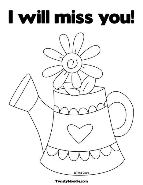 I Miss You Coloring Pages DIY Paintings Pinterest