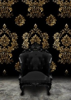 French Country Living Room Chairs Ideas On Foter Gold Damask Wallpaper Black Furniture Gold Wallpaper