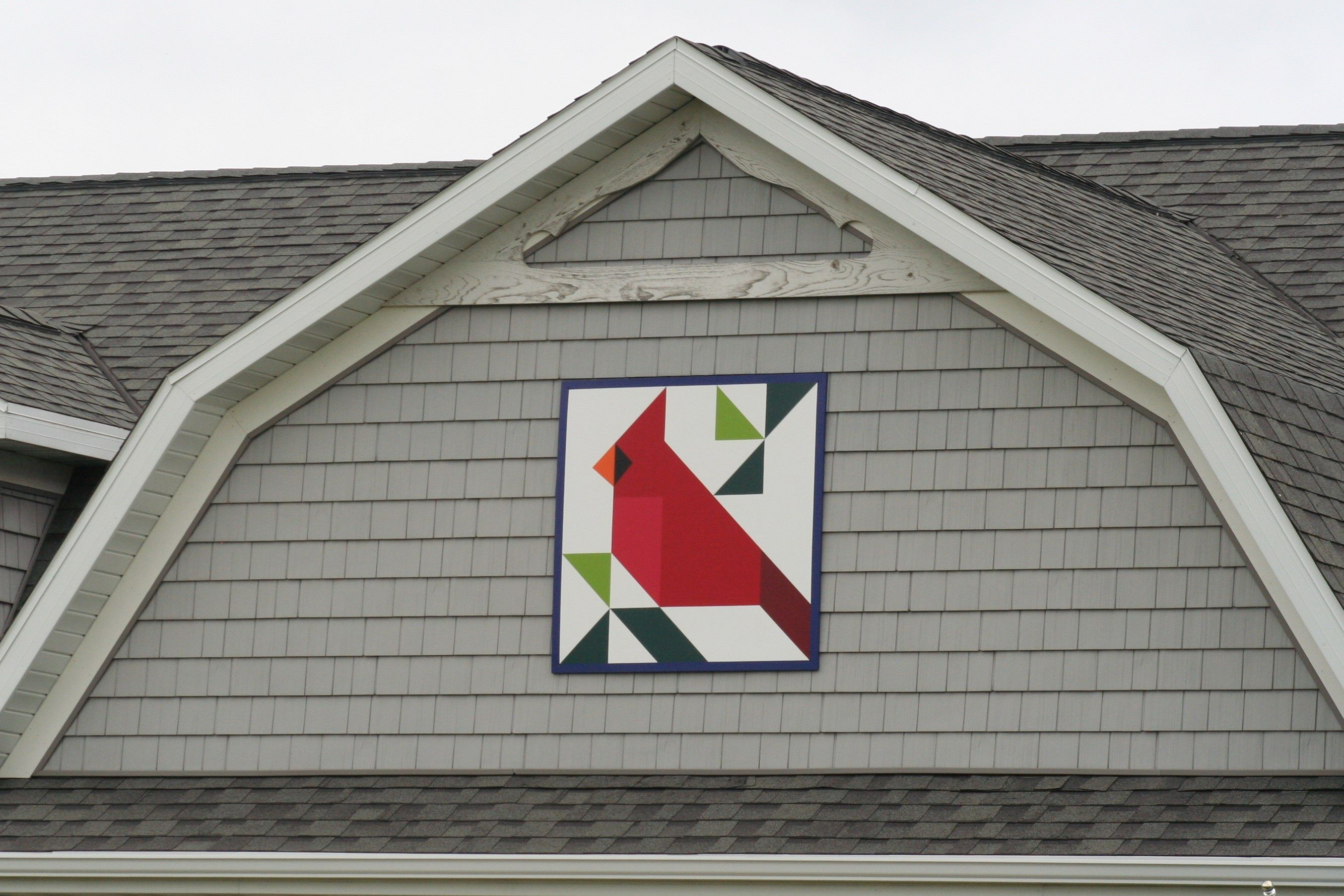 Cardinal quilt patch in Door County Wisconsin. | Door ...