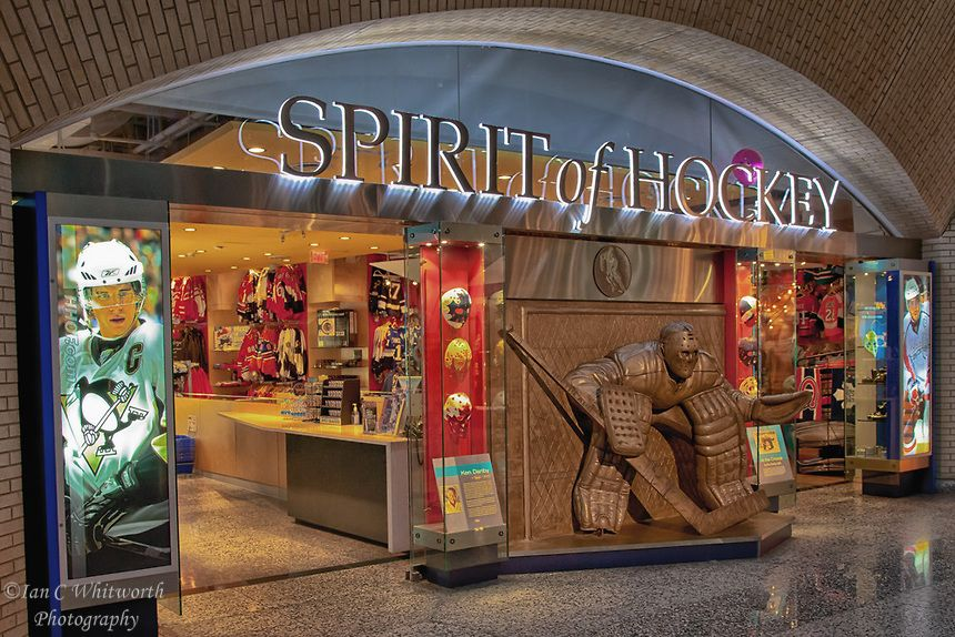 The Spirt of Hockey retail store at the Hockey Hall of Fame in Toronto.