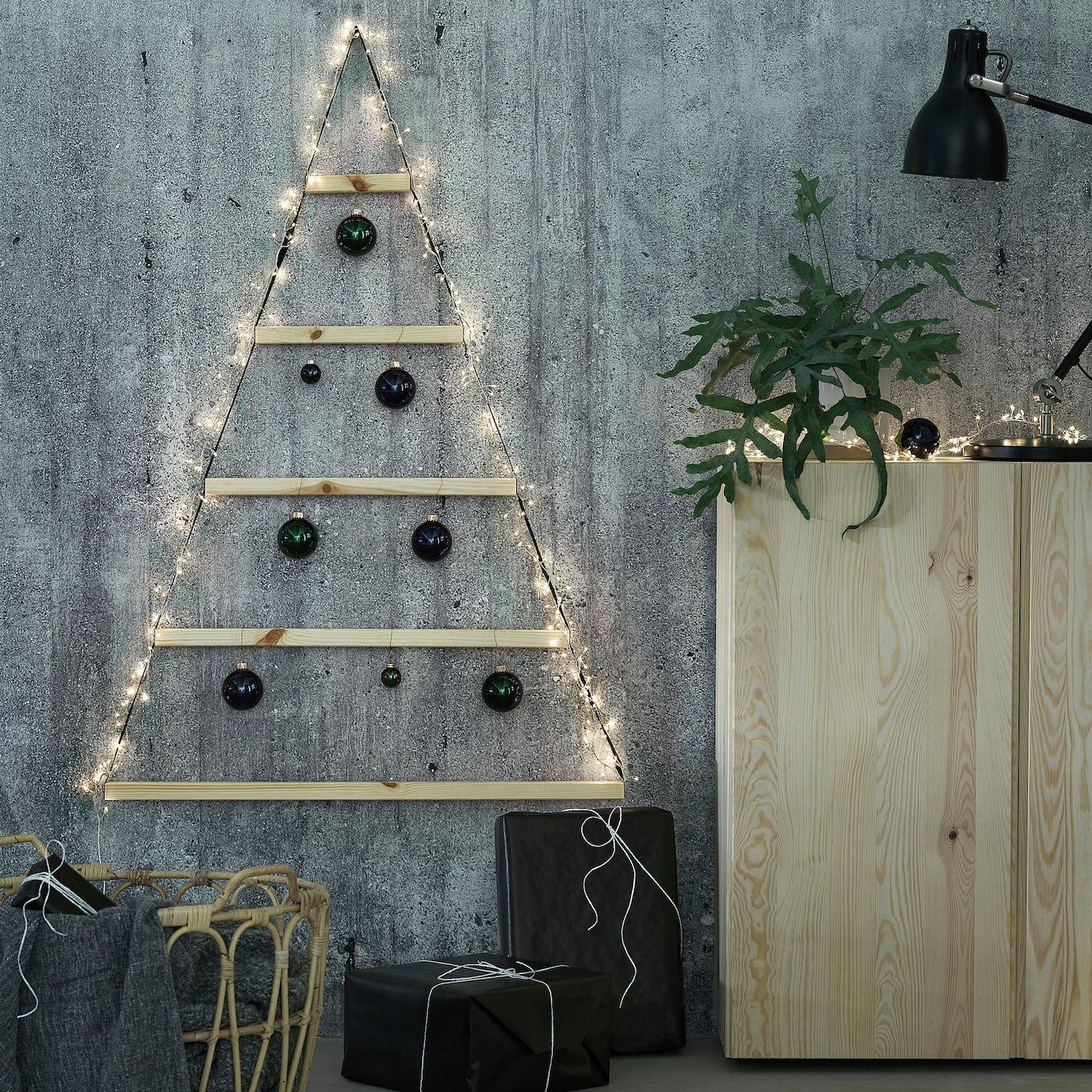 ikea vinter 2020 wanddekoration kiefer schwarz wall christmas tree decor decorations to make naturmaterialien diy