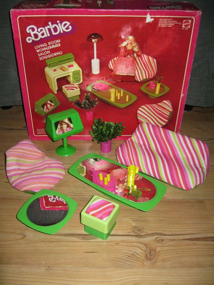 Barbie Livingroom Wohnzimmer No 2151 70er 1977 Mattel Vintage Ovp Barbie Vintage Barbie Barbie Mobel