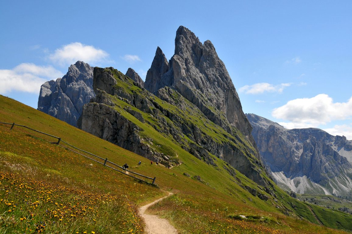 Puez-Geisler Nature Park in the Dolomites in South Tyrol ...