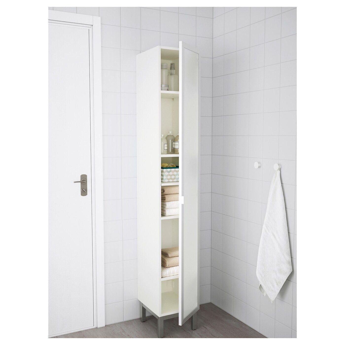Ikea Lillangen Hochschrank Weiss Aluminium In 2020 Hochschrank Weiss Hochschrank Badezimmer Design