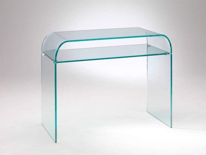 Console piano consolle in vetro curvato