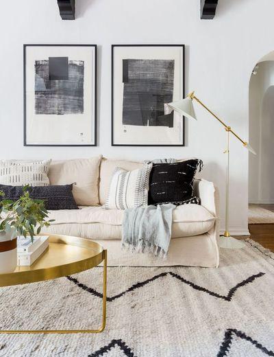 Leila Moroccan Shag Rug Gold Living Room Beige Couch Living Room Neutral Living Room