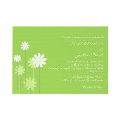 Green Daisy Wedding Invitation by Eternalflame
