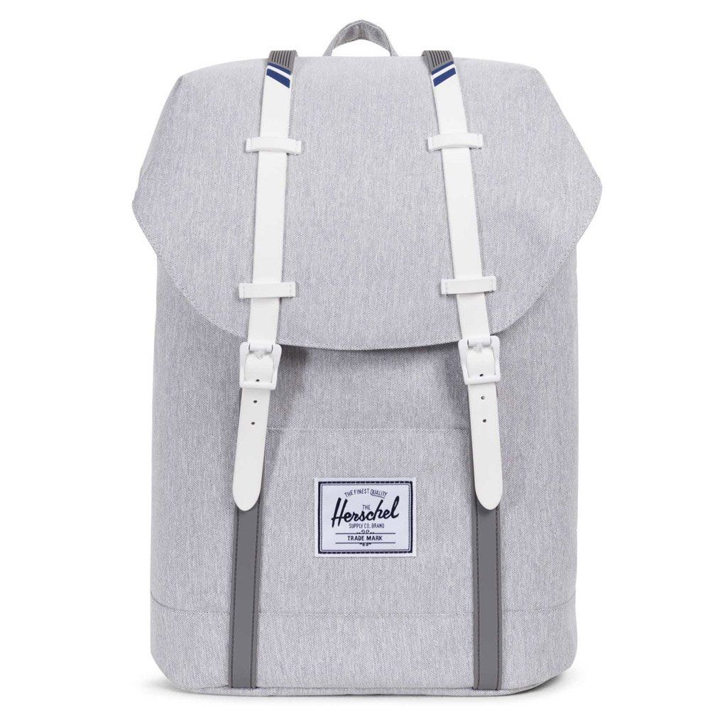 e5d78b148f Herschel Supply Co. Retreat Backpack - Light Grey  Crosshatch White Blueprint Stripe