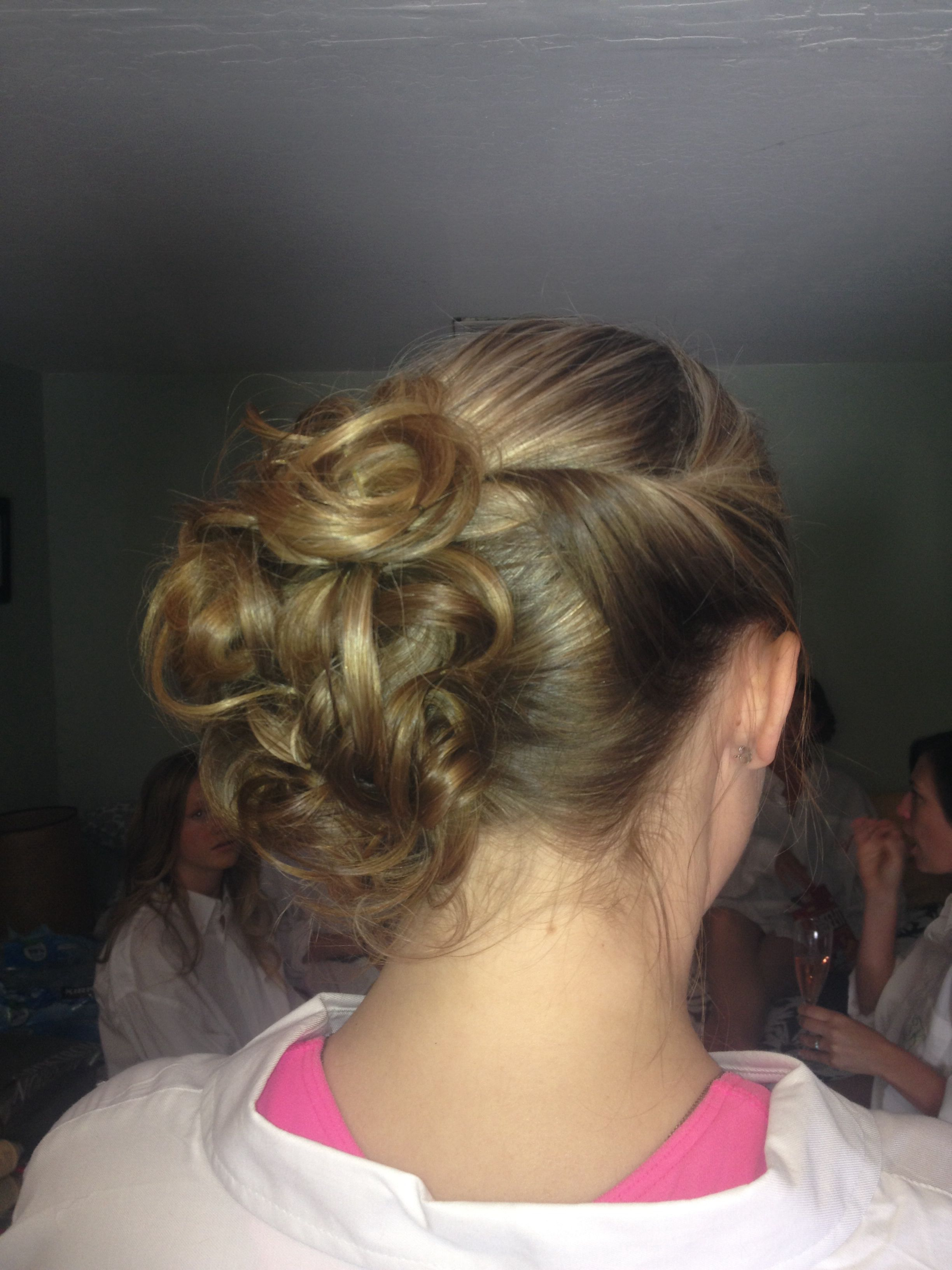 Messy side bun updo by tanya staysa hair pinterest side bun