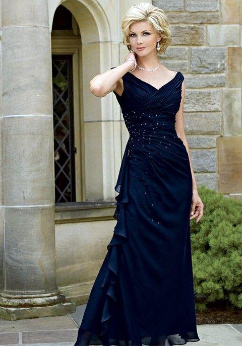 21 Vestidos Elegantes para la Madre de la Novia | Madre del novio ...