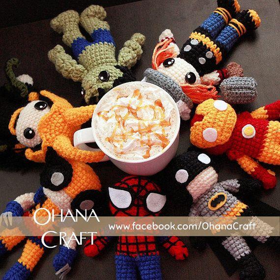 SuperHeroes inspired crochetdoll by OhanaCraftAmigurumi on Etsy