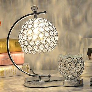高档欧式水晶卧室床头客厅婚庆台灯现代时尚简约宜家装饰创意台灯