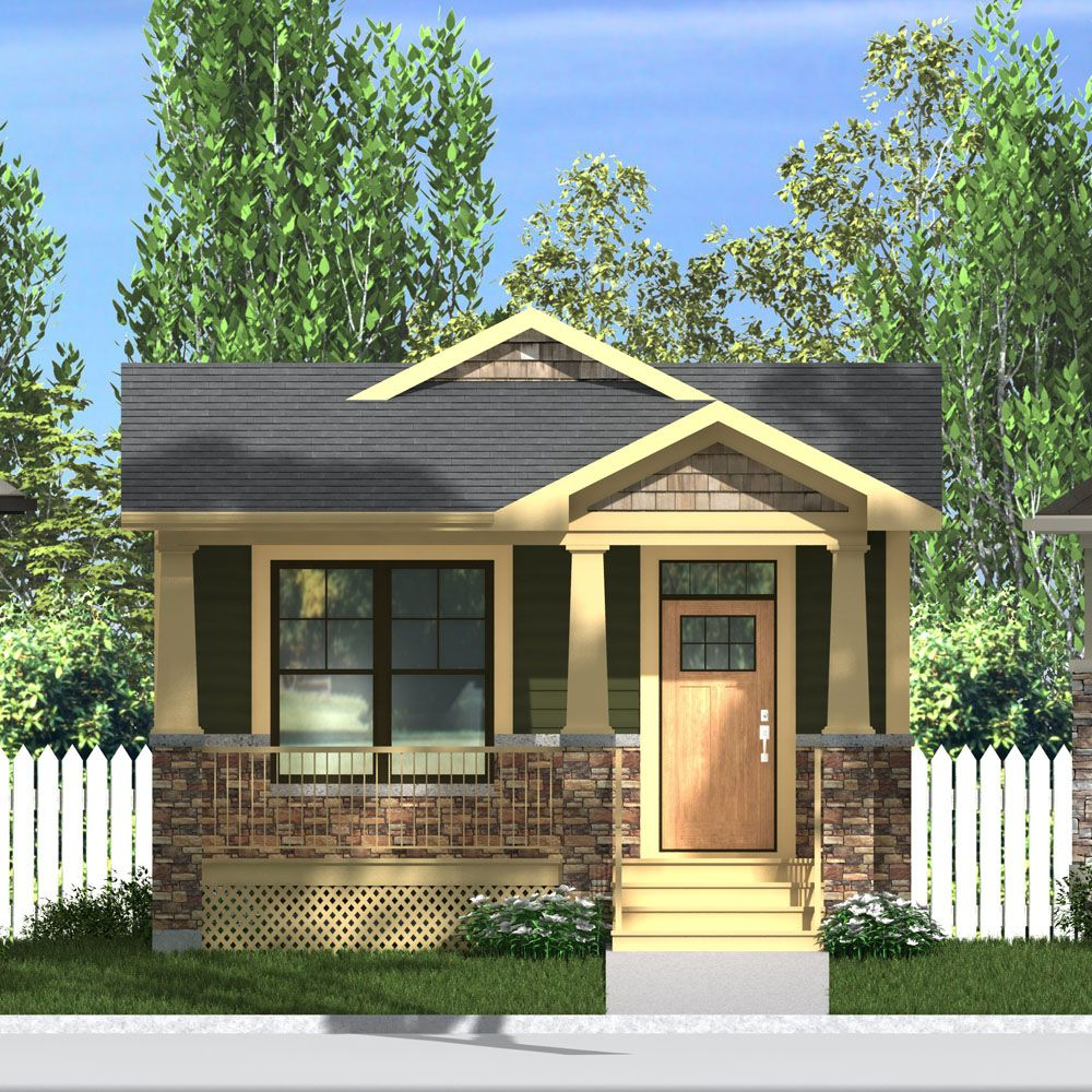 Inspiration House Plans Bungalow Open Concept: Craftsman Style Exterior, Small