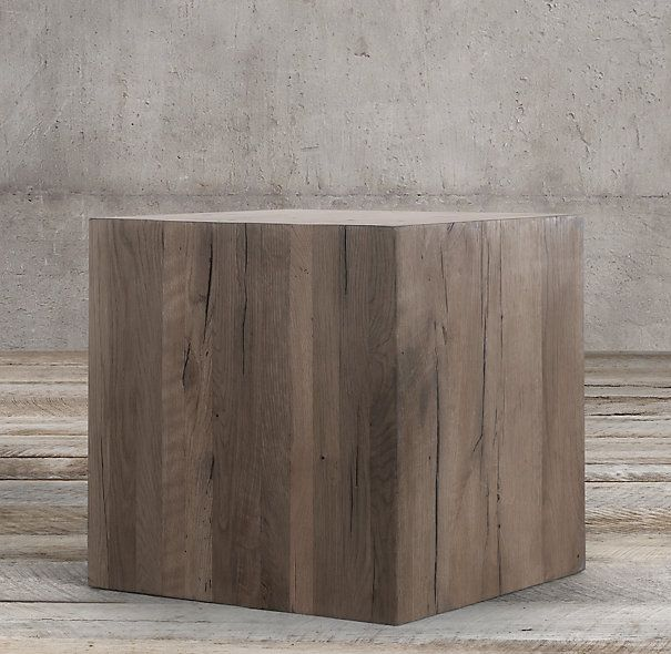 Reclaimed Russian Oak Parsons Cube | $1,095