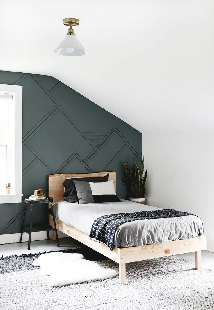 Diy Wood Trim Accent Wall In 2020 With Images Accent Wall Bedroom Wood Beds Accent Wall